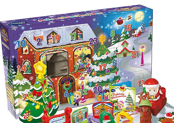 Fröhliche Weihnachten! Hinter jedem Türchen gibt es eine tolle Überraschung zu entdecken! Enthält einen singenden und sprechenden Entdecker-Nikolaus Kleine Spielfiguren, Ausstechförmchen und Christbaumschmuck Mit Weihnachtskarte 1 Schlitten mit magischem Sensor 2 gesungene Weihnachtslieder 6 Weihnachtsmelodien Kindersicheres Batteriefach und Abschaltautomatik Demobatterien enthalten Entdeckerfigur und Accessoires kompatibel mit weiteren Produkten der Entdeckerwelt