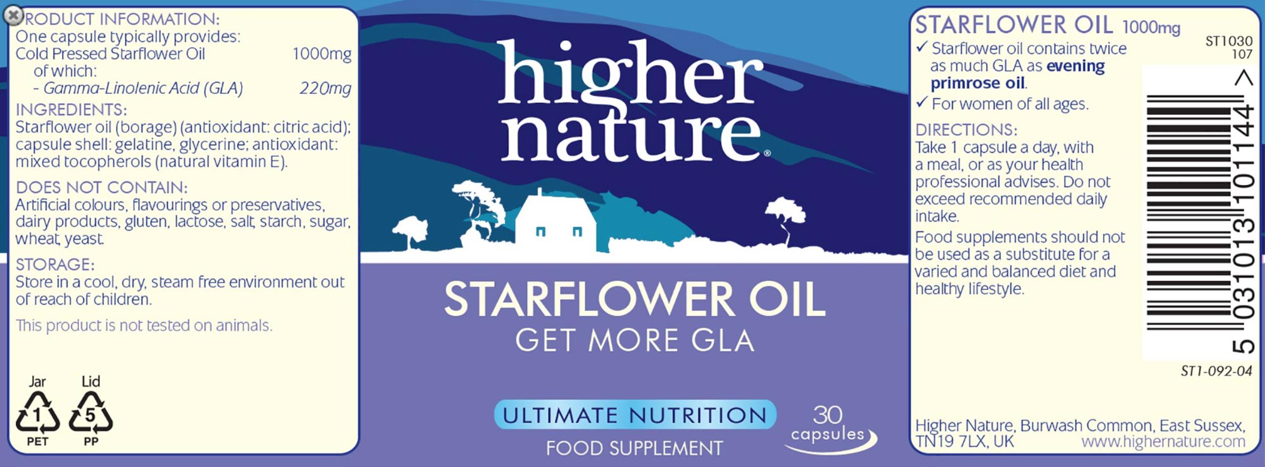 Wechseljahre - Borretschöl - Starflower Oil zu Unterstützung eines gesunden Hormonspiegels