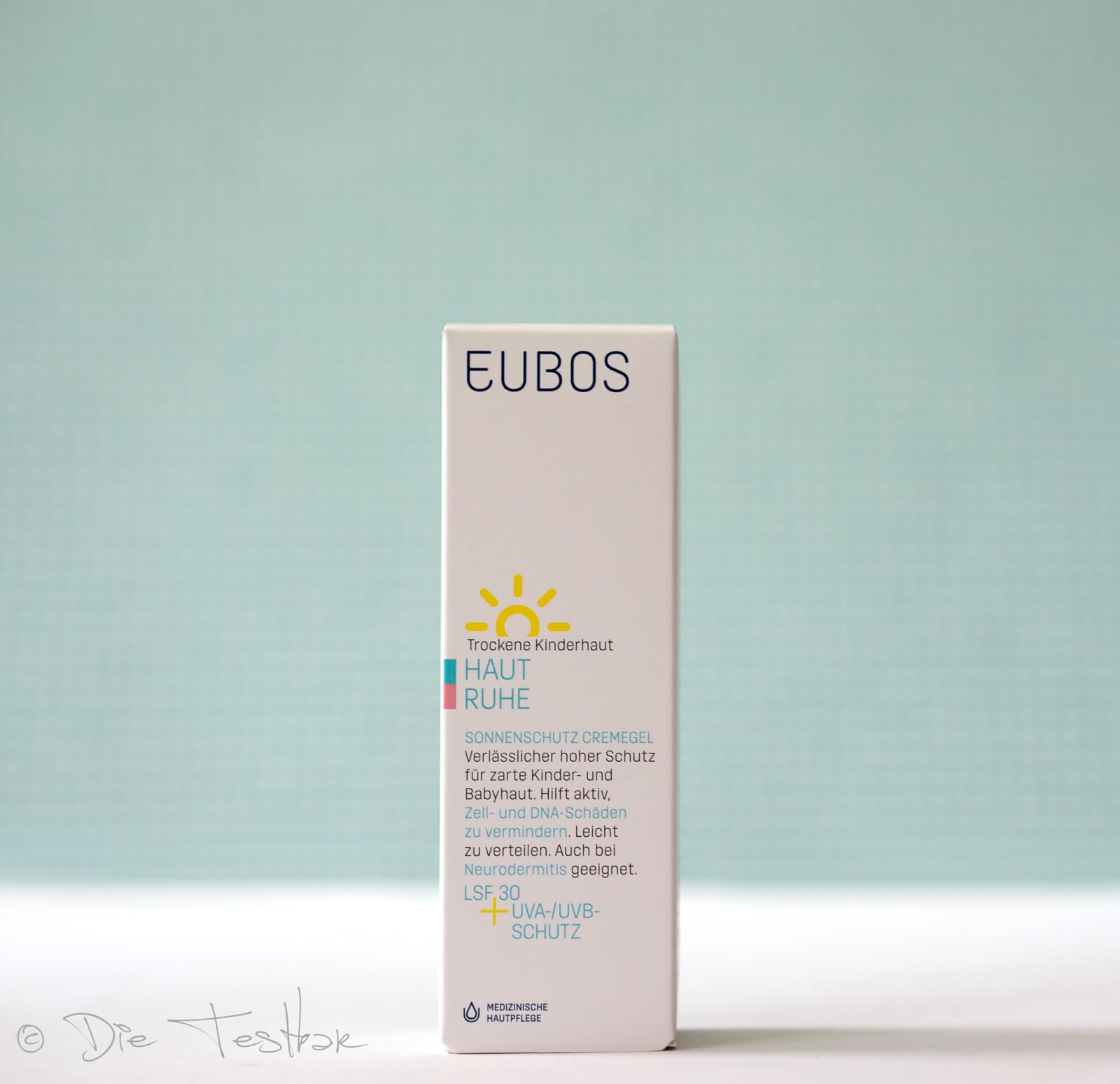 Haut Ruhe Sonnenschutz CremeGel LSF 30 + UVA von Eubos - Auch für empfindliche Kinderhaut, trockene und zu Neurodermitis neigender Haut geeignet