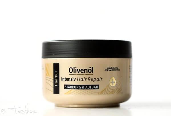 Olivenöl Intensiv Hair Repair Serie von medipharma cosmetics
