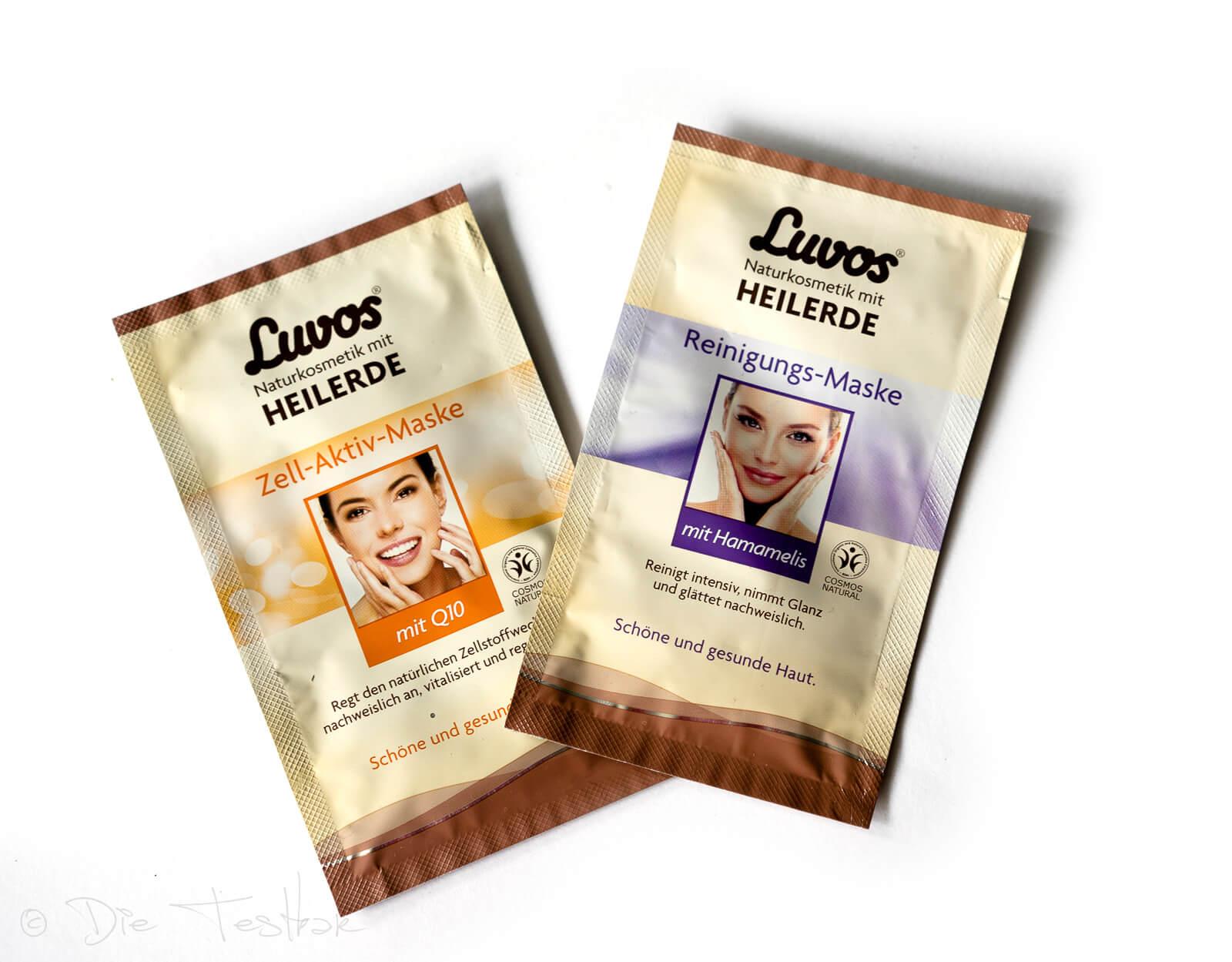 Naturkosmetik - Luvos Reinigungs-Maske mitHamamelis-Extrakt und Luvos Zell-Aktiv-Maske mit Q10