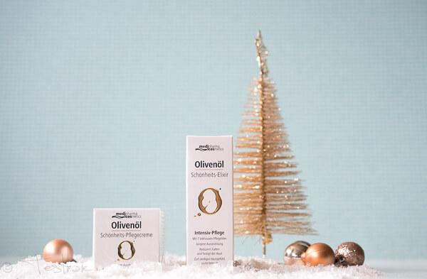 Olivenöl Schönheits-Elixir Intensiv-Pflege undOlivenöl Schönheits-Pflegecreme vonmedipharma cosmetics