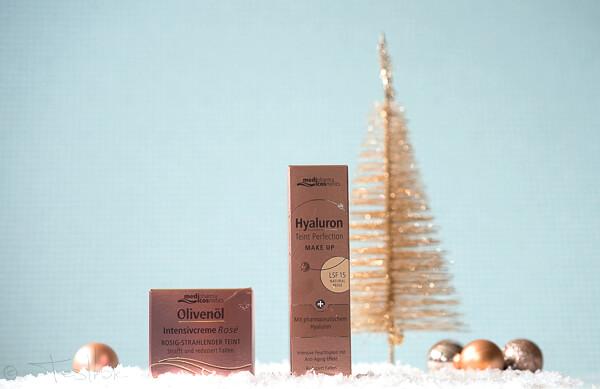 Gewinn 4 - medipharma cosmetics -Olivenöl Intensivcreme Rosé Tagescreme undHyaluron Teint Perfection Make Up Natural Ivory