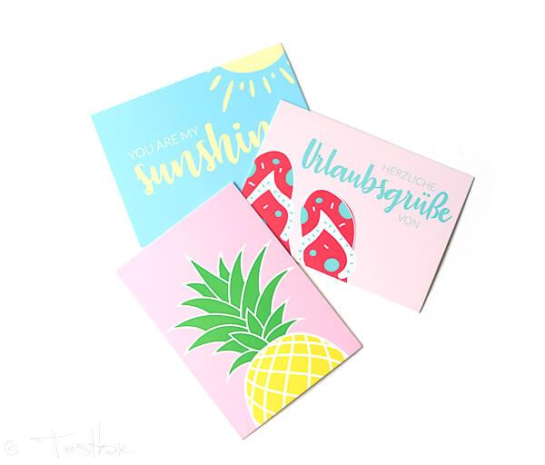 BRIGITTE Box - Reisetagebuch und Postkarten-Trio