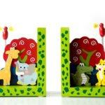 Geschenkideen – Buchstützen Wilde Tiere von Legler