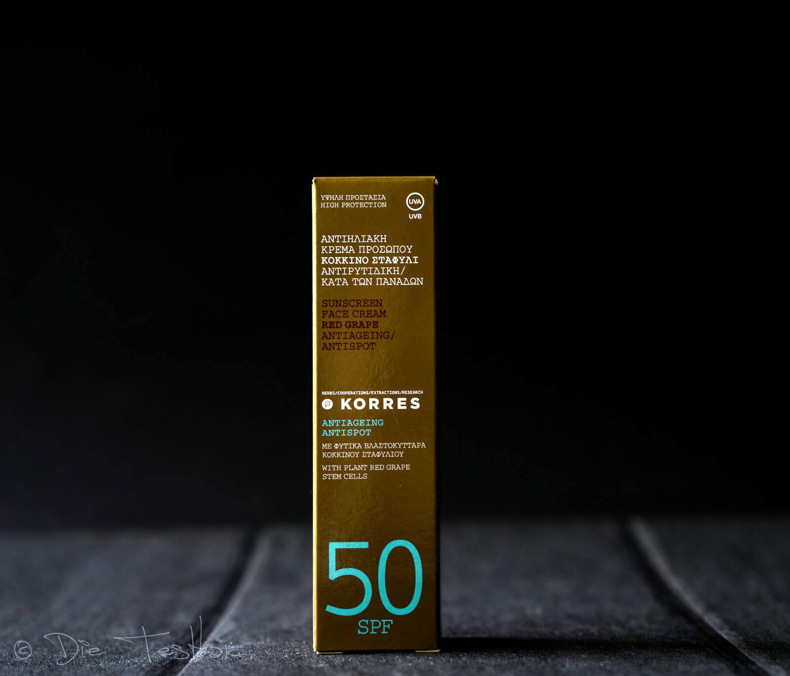 Red Grape SPF50 Sunscreen Facecream von Korres