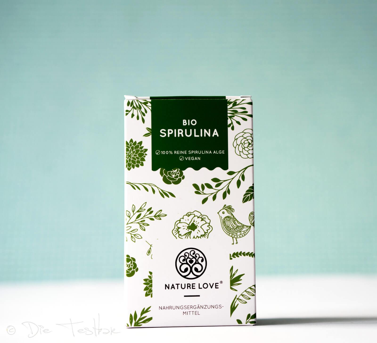Bio-Spirulina - Presslinge aus 100% reinen Bio-Spirulina-Algen von Nature Love