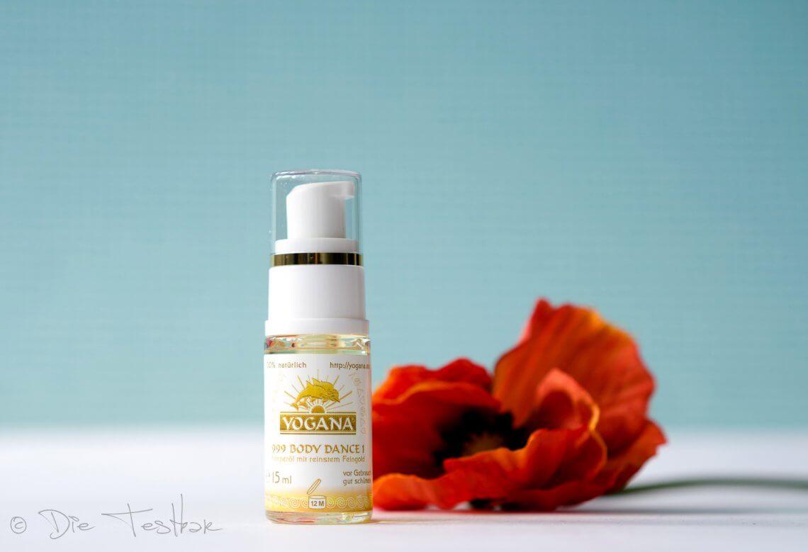 Yogana-Öl Body Dance - Duftendes Körperöl mit Feingold - Gefunden bei chi-statt-botox