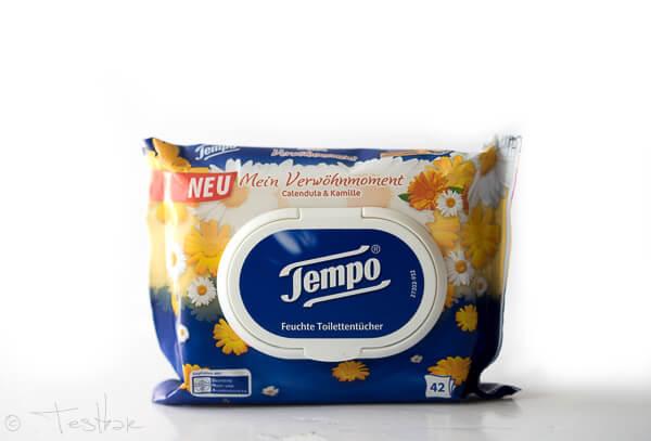 Feuchte Toilettentücher - Calendula und Kamille von Tempo