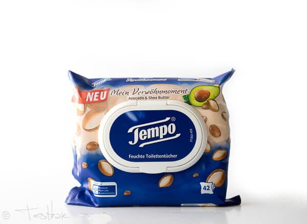 Feuchte Toilettentücher - Avocado & Sheabutter von Tempo