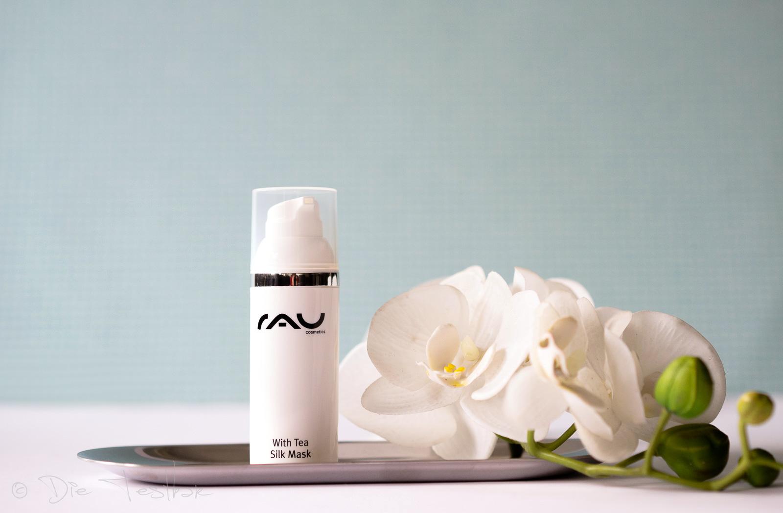 RAU White Tea Silk Mask 50 ml - mit Seidenproteinen, Weißem Tee, Panthenol & Sheabutter