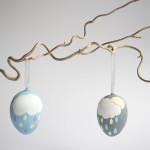 DIY – Ostereier in pastell mit Wolken