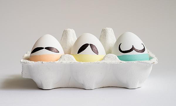 Mustache Eggs - Ostereier mit Schnurbart