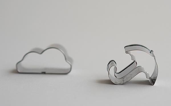 Ausstechförmchen Wolke und Regenschirm
