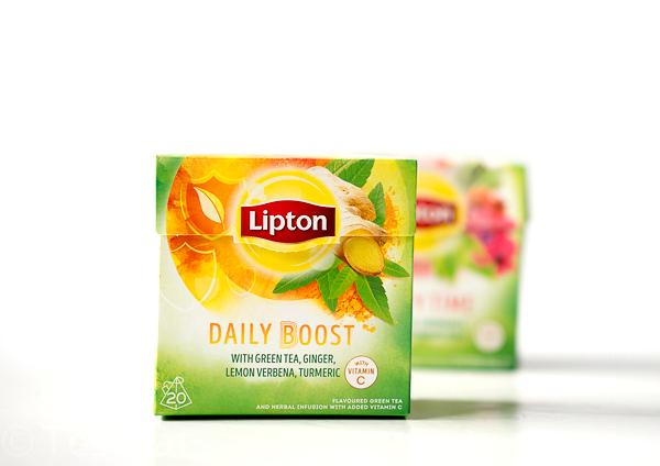 Lipton Daily Boost TeeGreen - Tea Beauty Time undLipton Grüntee Daily Boost