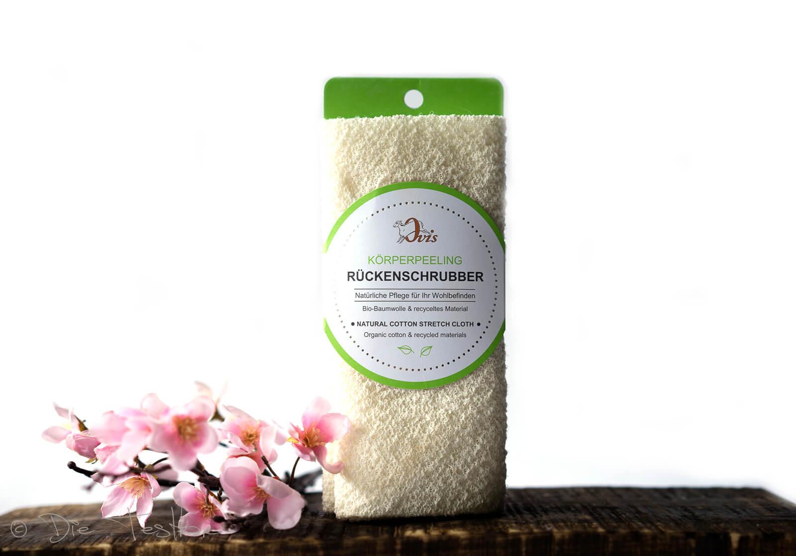 Rückenschrubber mit bio Baumwolle – Ovis