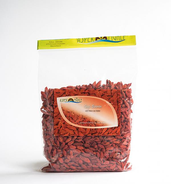 Superfood und Super pflegende Rohstoffe aus der Aspermühle - Goji Beeren - Premiumqualität