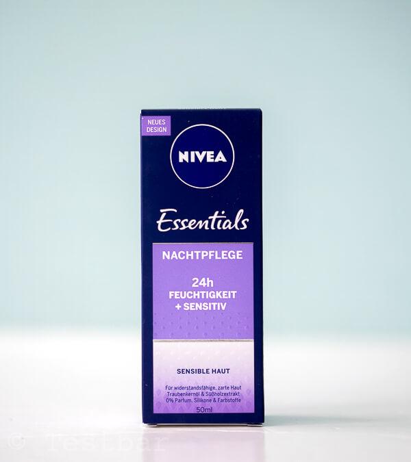 SANFT ERHOLTE HAUT - NIVEA Essentials 24h FEUCHTIGKEIT + SENSITIV Nachtpflege