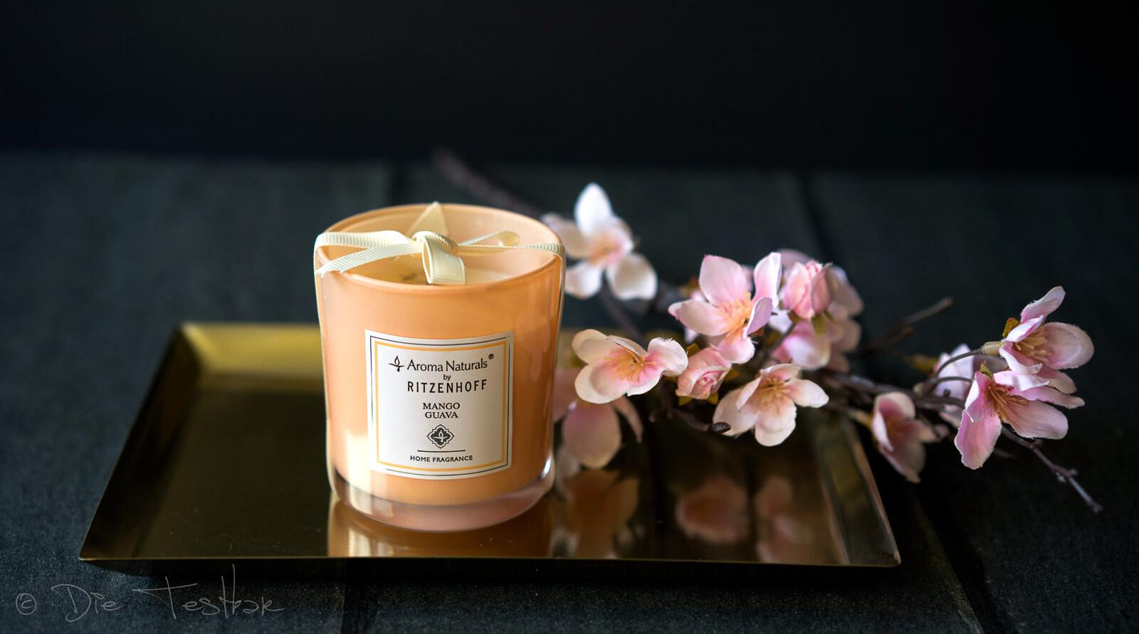 Aroma Naturals -Modern Duftkerze, Mango Guava
