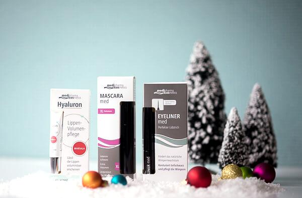 Gewinn - Set aus dem Hause medipharma - Lippen-Volumen-Pflege - Mascara für extra viel Volumen und kräftigere Wimpern sowie denEyeliner zur intensiven Pflege und Unterstützung des natürlichen Wimpernwachstums.