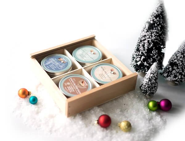 Gewinnset 7 - FinigranaBio Shea & Kakaobutter Kosmetik Set in hübscher Holzbox