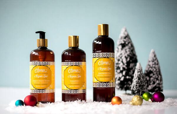 Gewinnset 3 - Ottoman Argan Spa Set - Shampoo - Shower Gel - Liquid Hand Wash