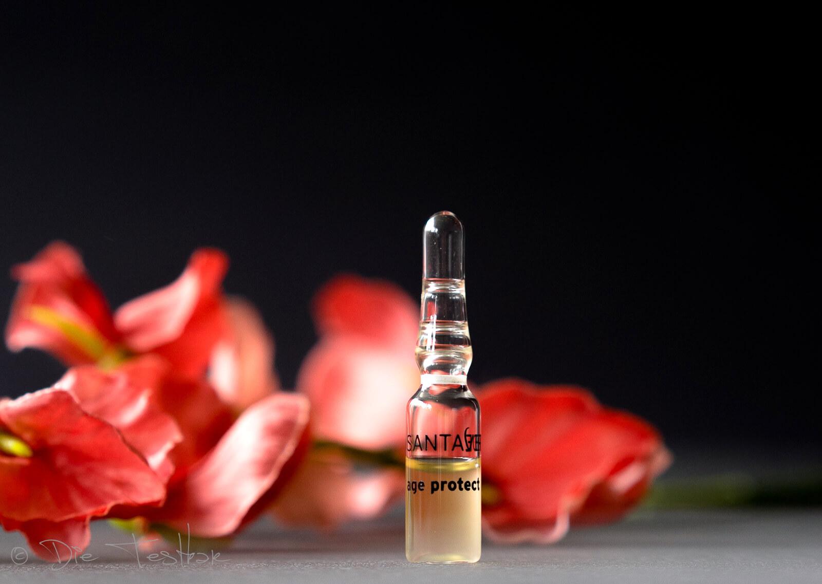 Aloe Vera Blüte Age Protect Ampullenkur von Santaverde Naturkosmetik