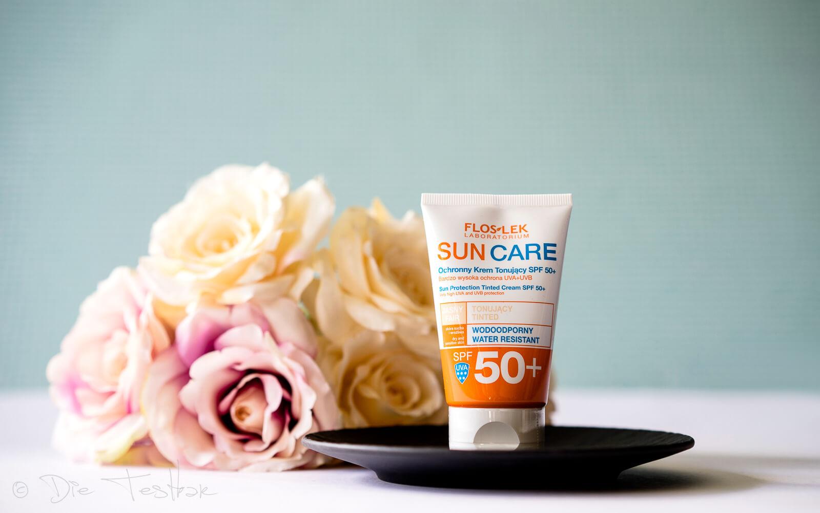 Floslek DERMO EXPERT™ - SUN CARE Getönte UV-Schutzcreme LSF 50+ und getönte, ölfreie UV-Schutzcreme LSF 50+