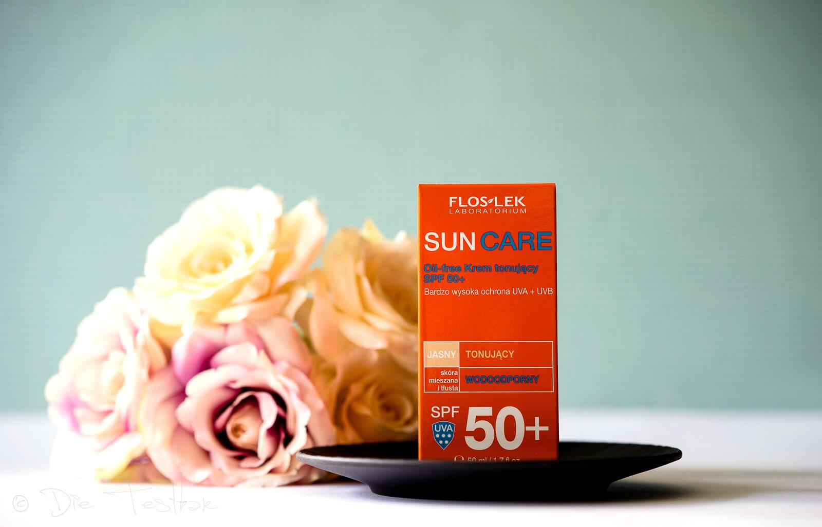 Floslek DERMO EXPERT™ - SUN CARE getönte, ölfreie UV-Schutzcreme LSF 50+