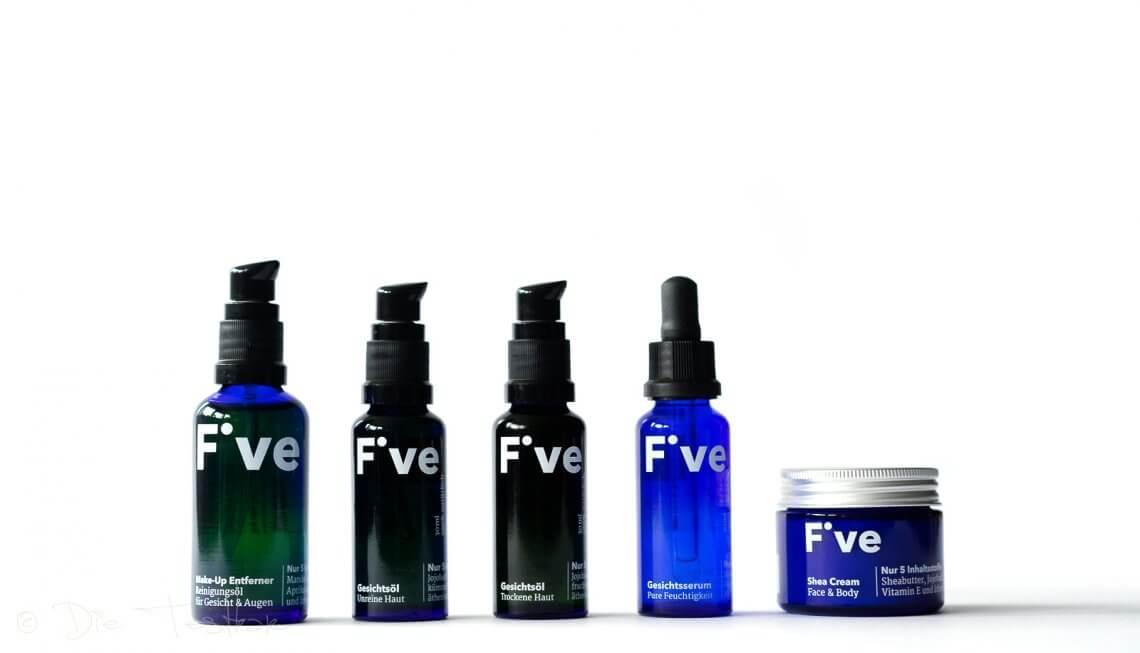 Bessere Hautbalance durch weniger Inhaltsstoffe mit der Naturkosmetik von Five Skincare
