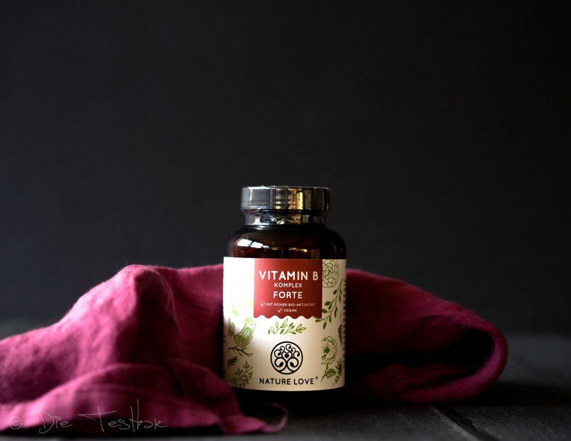 Hochdosierte Vitamin B Komplex Kapseln von Nature Love