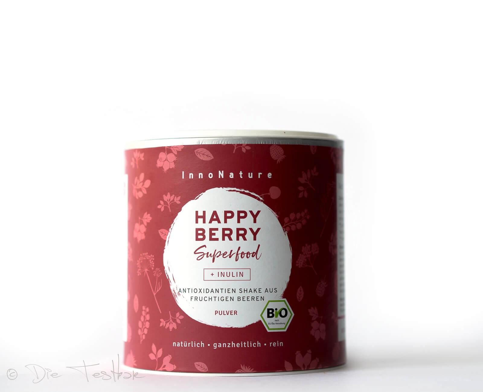 Bio Happy Berry Superfood Pulver: Antioxidantienshake aus Beeren von InnoNature