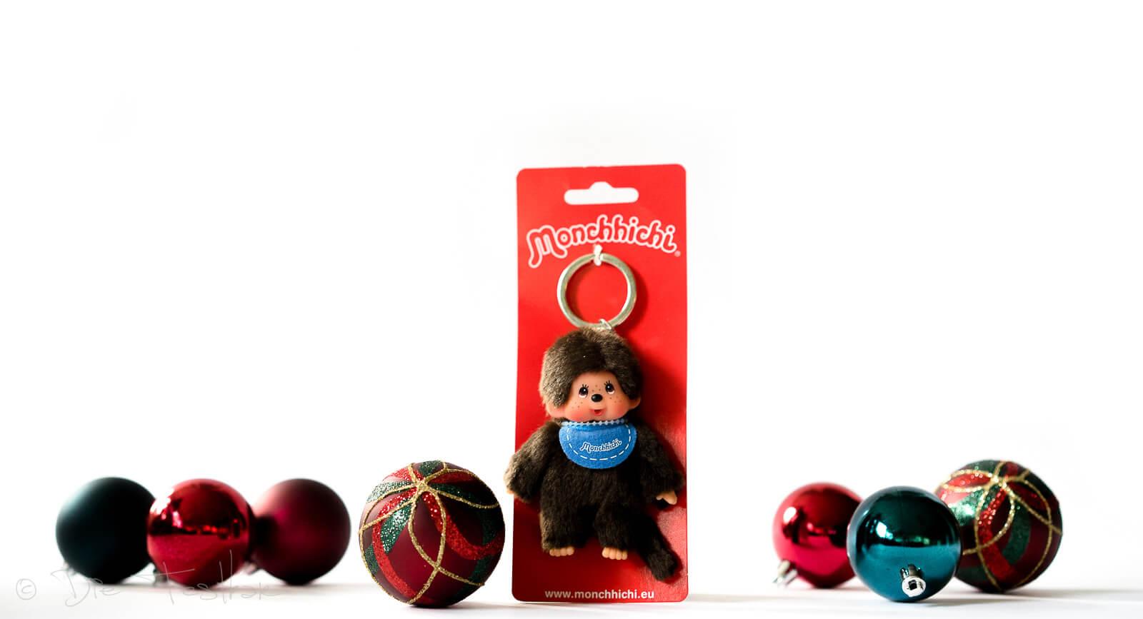 Monchhichi Schlüsselanhänger Junge blau
