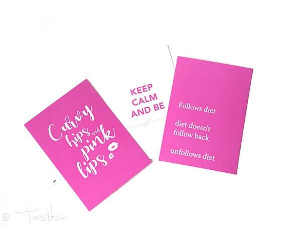 Pink Box -Postkarten-Trio