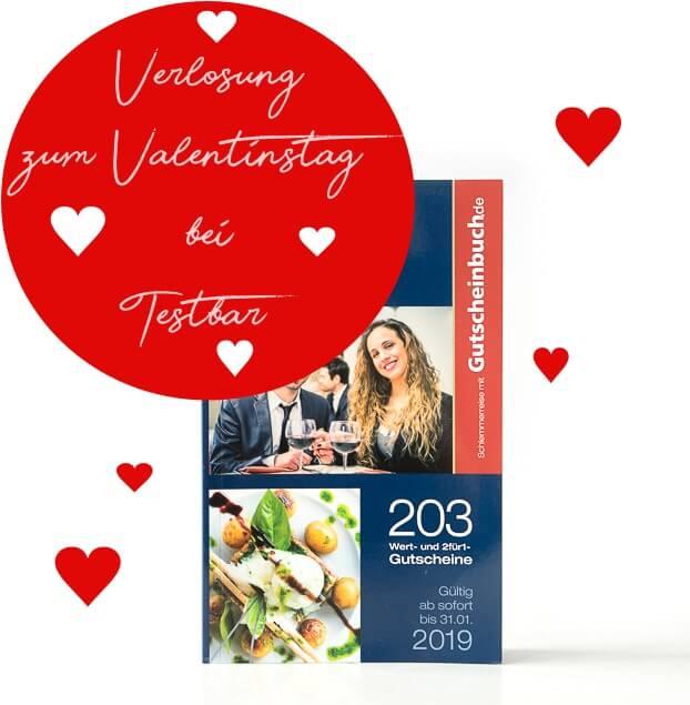 Verlosung zum Valentinstag - Schlemmerreise mitGutscheinbuch.de zu gewinnen