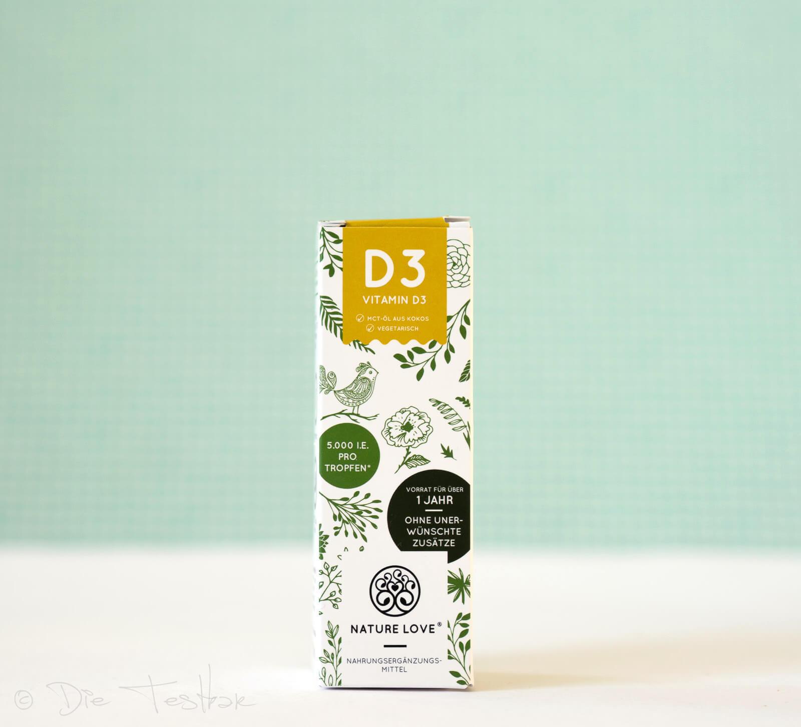 NATURE LOVE - Vitamin D3 mit 5000 I.E. pro Tropfen