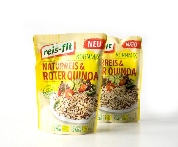 REIS-FIT Kornmix Naturreis & Mehrkorn, Naturreis & Roter Quinoa und Reis mit Gemüse & Linsen