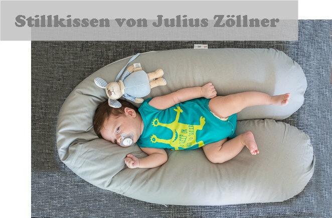 Praktisches Still- und Lagerungskissen, auch während der Schwangerschaft