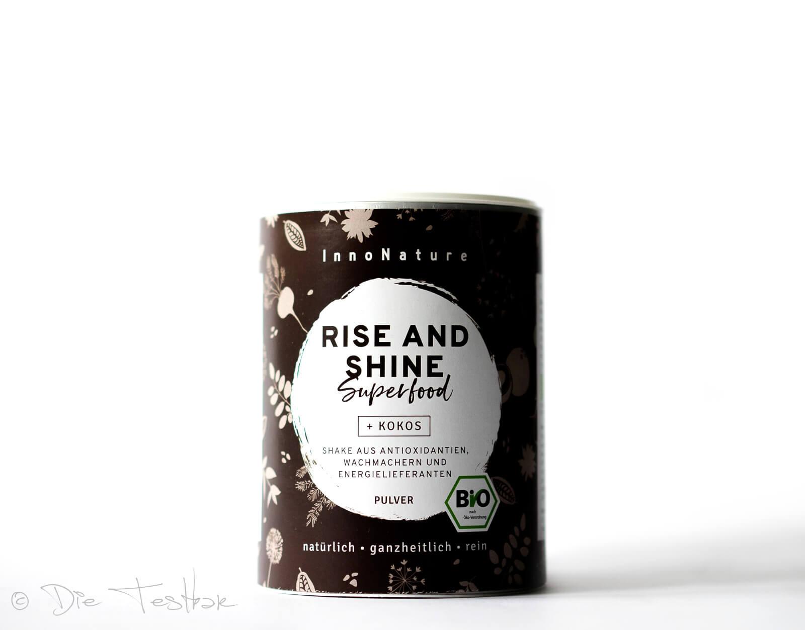 Bio Rise and Shine Superfood Shake: Bio-Kokos, Bio-Kakao, Bio-Matcha, Bio-Guarana