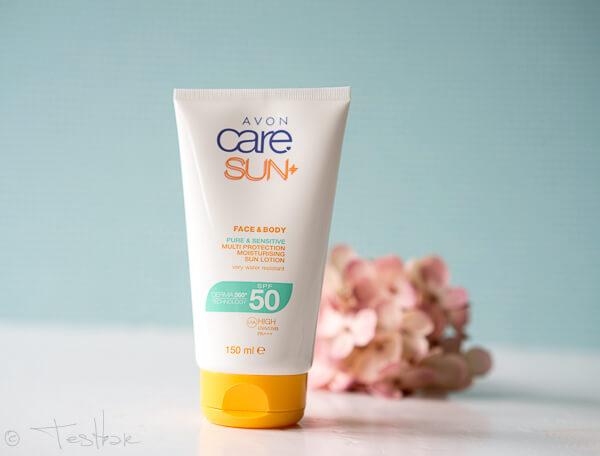 AVON care SUN+ Sonnenschutz Lotion für empfindliche Haut LSF 50