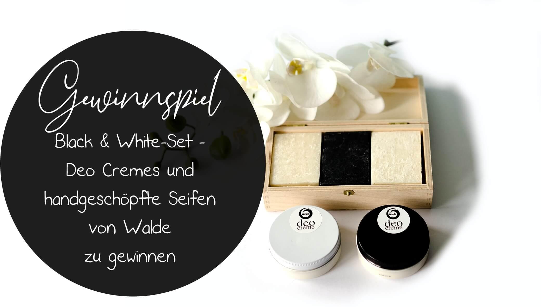 Deo Creme und handgeschöpfte Seifen von Walde - Tolles Black & White-Set zu gewinnen