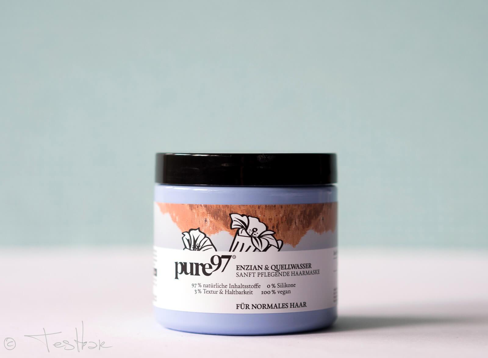 pure97 - Enzian & Quellwasser Haarmaske