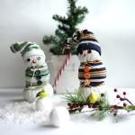 DIY – Süße Schneemänner aus Socken basteln