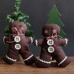 Weihnachtsdekoration – Genähte Lebkuchenmänner