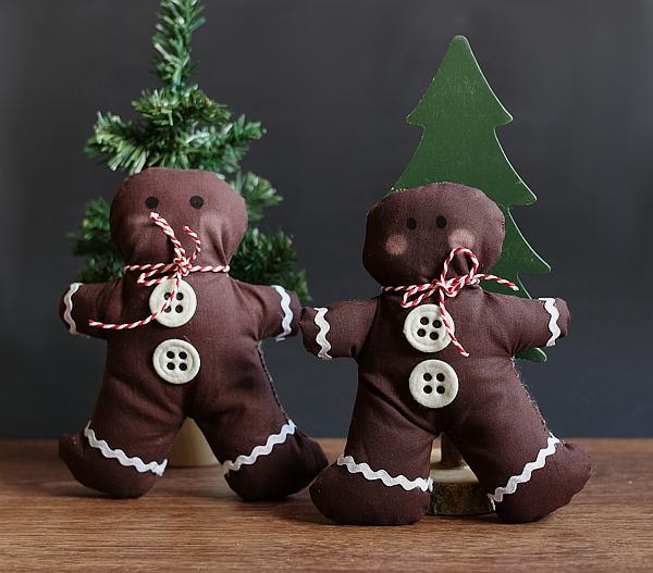 Weihnachtsdekoration - Genähte Lebkuchenmänner - Lifestyle Blog ...