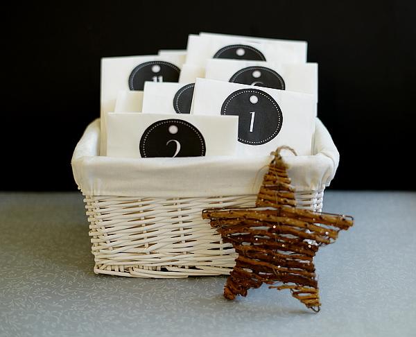 Last Minute Adventskalender aus Weidenkorb