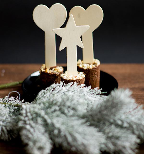 Schokolade am Stiel - Trinkschokolade
