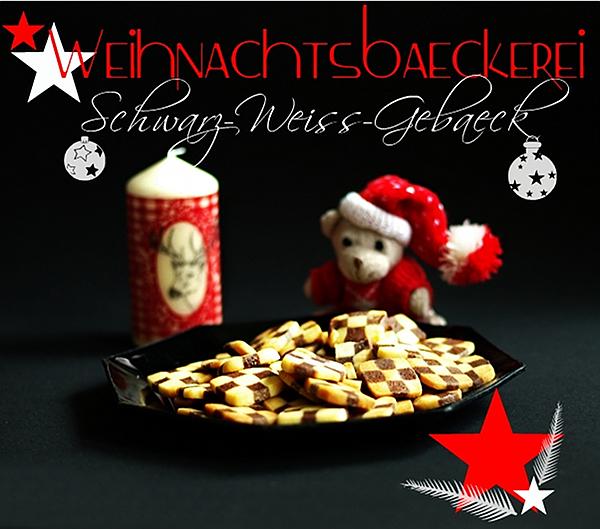 Weihnachtsbäckerei - Schwarz-Weiß-Gebäck