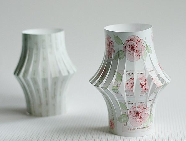 Kreativ Ideen Hübsche Romantische Windlichter Aus Papier Basteln