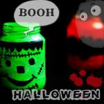 Basteln zu Halloween – Gruselige Windlichter und Kulleraugen
